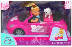 Simba Évi baba sportautóval és kutyával 2