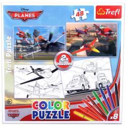 Trefl Color Puzzle - Repcsik 2 az 1-ben színezhető puzzle (36510)