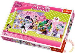 Trefl Minnie vásárol 2 az 1-ben 24, 48 db-os (34166)