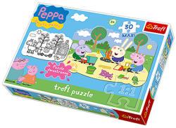 Trefl Peppa malac 30 db-os színezhető maxi puzzle (14405)