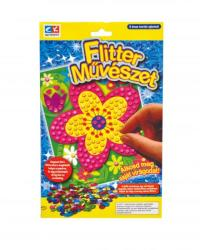Creative Kids Flitter művészet - virágok