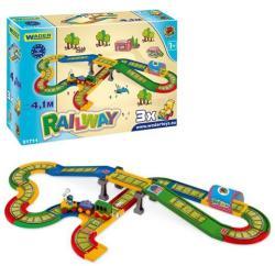Wader Kid Cars vasútpálya híddal 4,1m 51711