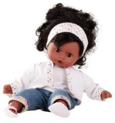 Götz Muffin baba barna szemű, fekete hajú, 33 cm