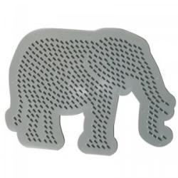 SES Sablon gyöngyképekhez - elefánt