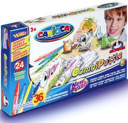 Carioca Kétoldalas színezhető puzzle - Szörnyes 36 db-os (40184)