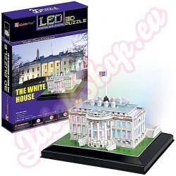CubicFun Fehér Ház 3D 56 db-os világító puzzle