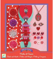 DJECO Gyöngyök és szívek ékszerkészítő (DJ09803)