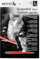 Reeves Ezüst képkarcoló - aranyos cicák