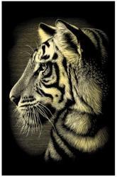 Reeves Mini arany képkarcoló - Tigris