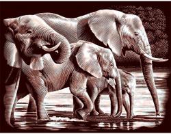 Reeves Arany képkarcoló - Elefántok