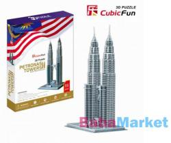 CubicFun Petronas Towers 3D puzzle 86 db