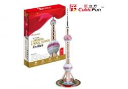 CubicFun Oriental Pearl Tower 3D puzzle 86 db-os