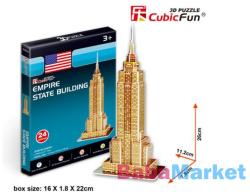 CubicFun Empire State Building 3D puzzle 24 db-os