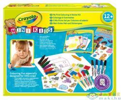 Crayola Mini Kids Színező és matricázó készlet