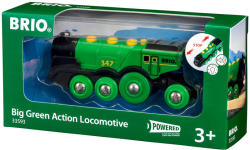 BRIO Zöld Action lokomotív 33593