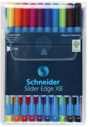 Schneider Slider Edge XB golyóstoll készlet (10db), 0.7mm, kupakos - vegyes színek (TSCSLEXBV10)