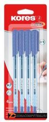 KORES K1-M golyóstoll, 0.7mm, kupakos - kék (IK37114)