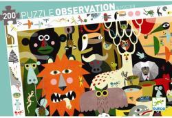 DJECO Megfigyelő Puzzle - Szafari 200 db-os (7458)