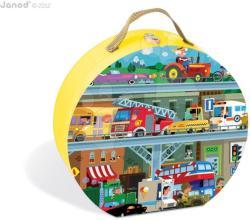 Janod Puzzle bőröndben - Járművek 100 db-os (02877)