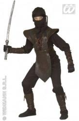 Widmann Fekete ninja - 128cm-es méret (MD-38796)