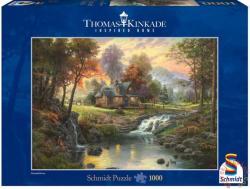Schmidt Spiele Thomas Kinkade - Menedékház a patak mellett 1000 db-os (58445)