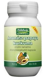 Zöldvér Ananász-Papaya-Kurkuma - 60+18db