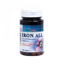 Vitaking Iron All Vas Komplex Tabletta (100db)