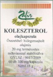 Zafír Koleszterol - 60db