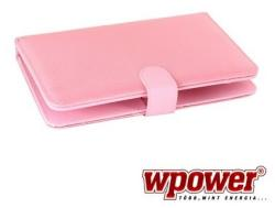 "WPower Tablet Case with Keyboard 8"" - Pink (TBAC0023PI-8)"