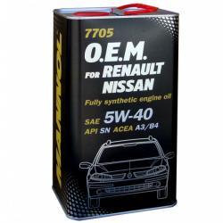 MANNOL 7705 O.E.M for Renault Nissan 5W-40 (4L)