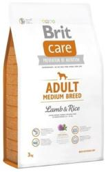 Brit Care Adult Medium Breed Lamb & Rice 3kg