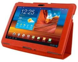 4World Slim Case for Galaxy Tab 10.1 - Red (08201)