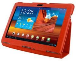 4World Slim Case for Galaxy Tab 10.1 - Red (08201)