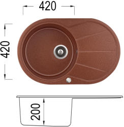 Lino Karina 780 Мивка за вграждане