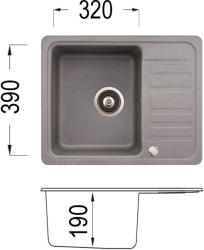 Lino Fiona 575 Мивка за вграждане