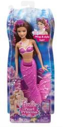 Mattel Barbie - A Gyöngyhercegnő - fésülhető babák - lila sellő (BDB47/BDB48)
