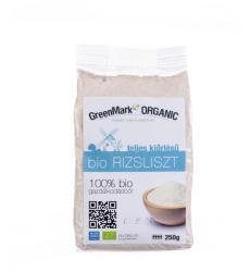 GreenMark Organic Bio teljes kiőrlésű rizsliszt 250g