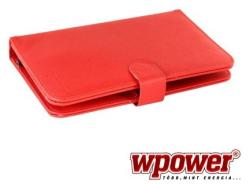 "WPower Tablet Case with Keyboard 7"" - Red (TBAC0024R-7)"