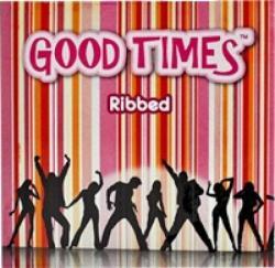 Good Times Ribbed bordázott óvszer 3db