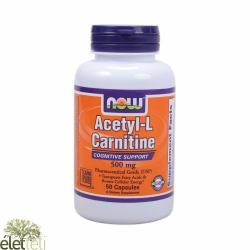 Now Acetyl L-Carnitine 500 mg - 50 caps