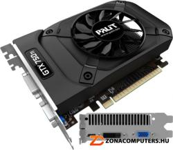 Palit GeForce GTX 750 Ti StormX OC 2GB GDDR5 128bit PCIe (NE5X75TS1341-1073F)
