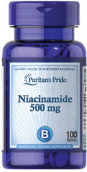 Puritan's Pride Niacinamid B3-vitamin tabletta - 100 db