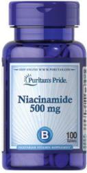 Puritan's Pride Niacinamid B3-vitamin tabletta - 100 db