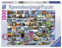 Ravensburger A 99 legszebb hely a Földön 1000 db-os (19371)