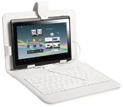 """Tracer Tablet Case with micro USB Keyboard 7"""" - White (43850)"""