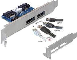 Delock 2x eSATA-2xUSB/SATA Converter 61725