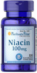Puritan's Pride Niacin B3-vitamin tabletta - 100 db