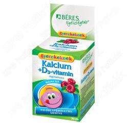 BÉRES Kalcium + D3-vitamin Gyerek Rágótabletta (30db)