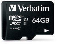 Verbatim microSDXC 64GB Class 10 44014