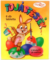 Herlitz Tablettás tojásfesték - 6 színű